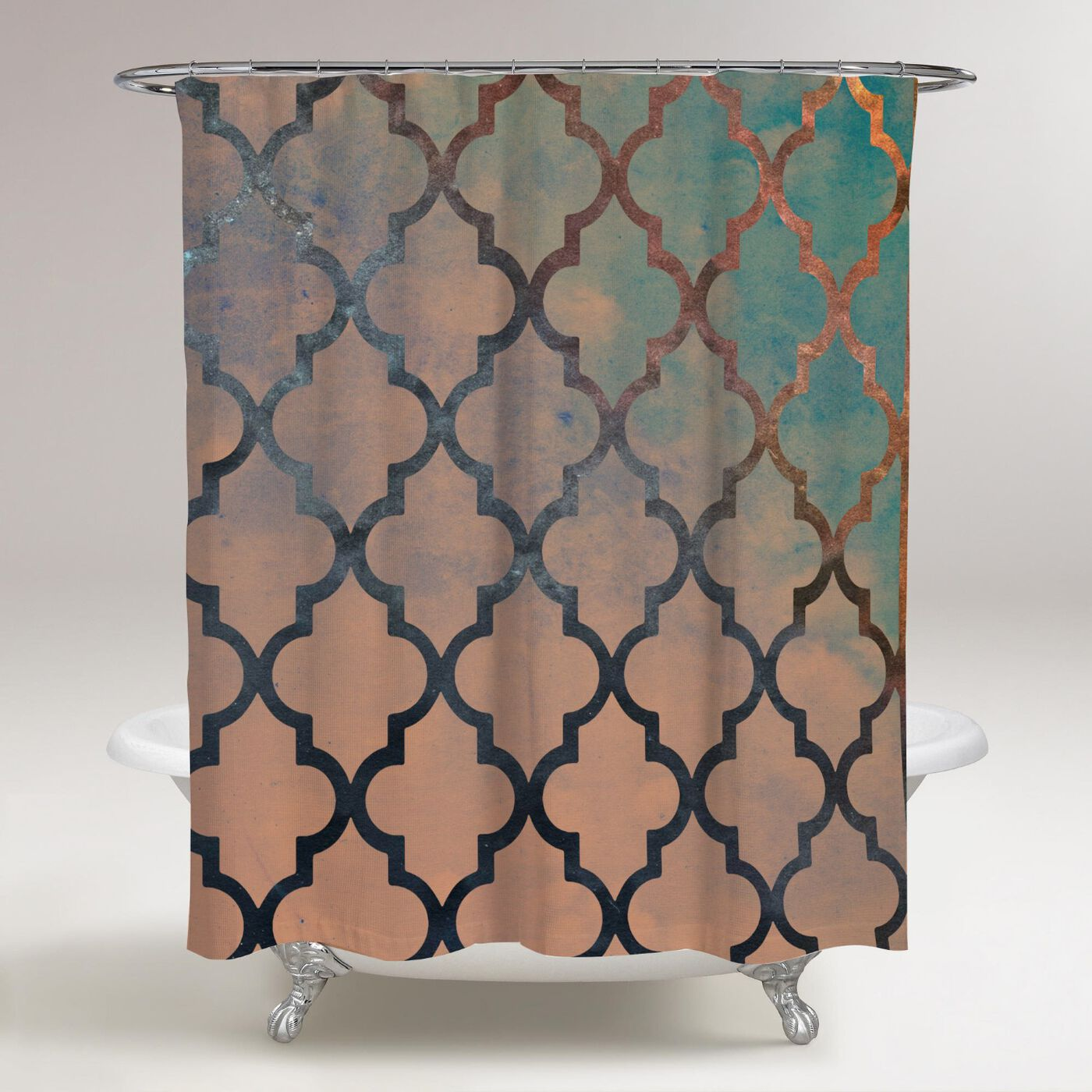 Amour Arabesque Shower Curtain