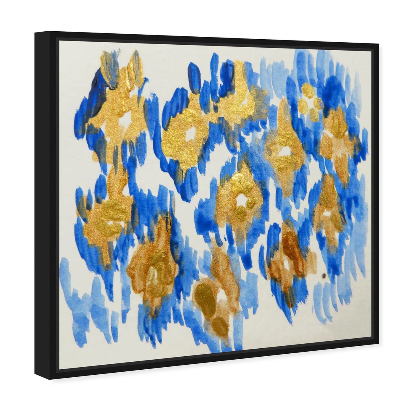 Angled view of Carmela Azul - Signature Collection featuring abstract and paint art.