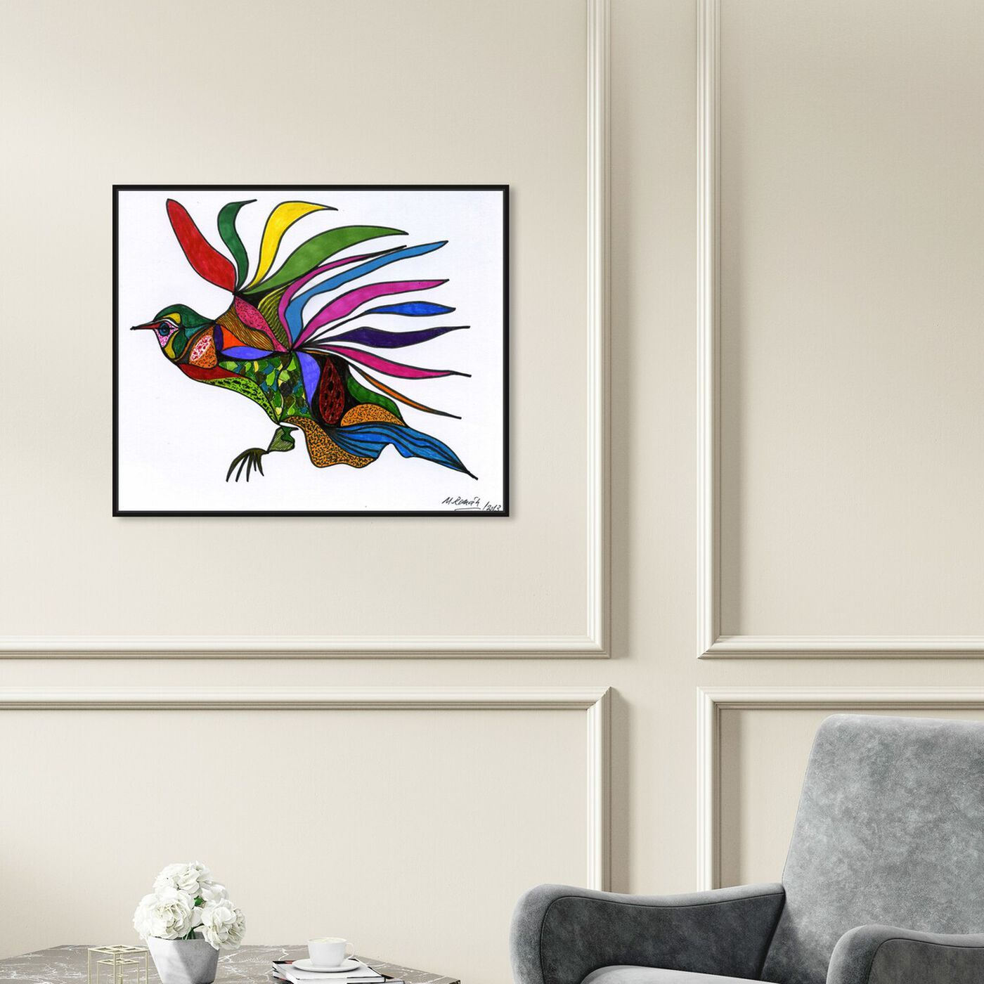 Hanging view of Bird of Paradise featuring animals and birds art.