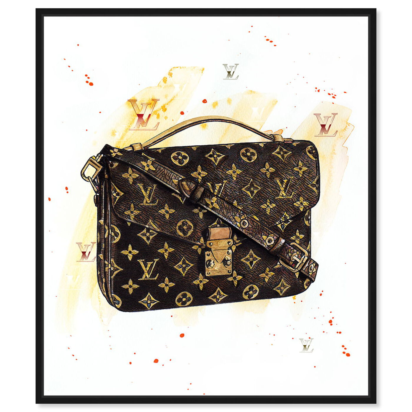 Front view of Doll Memories - Lavish Hand Bag Splashes featuring fashion and glam and handbags art.
