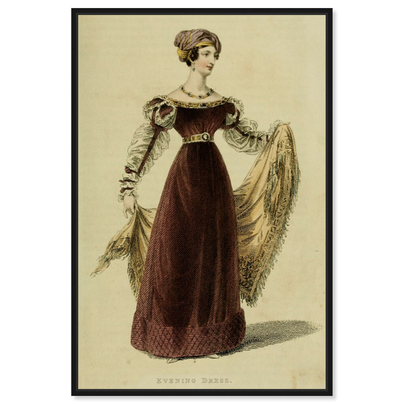 Front view of Evening Dress V - The Art Cabinet featuring classic and figurative and realism art.