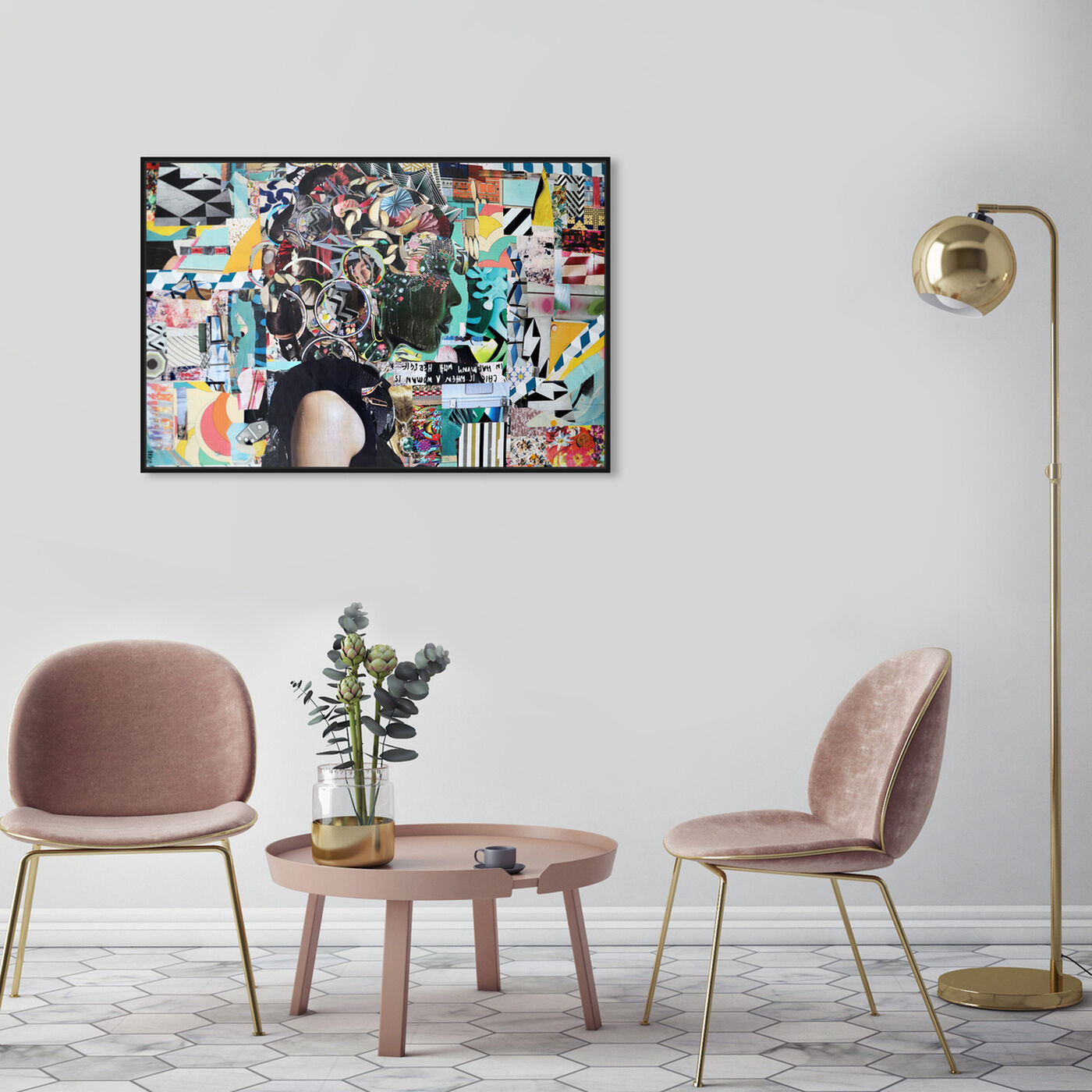 Hanging view of Katy Hirschfeld - Elegance in Stride featuring fashion and glam and portraits art.