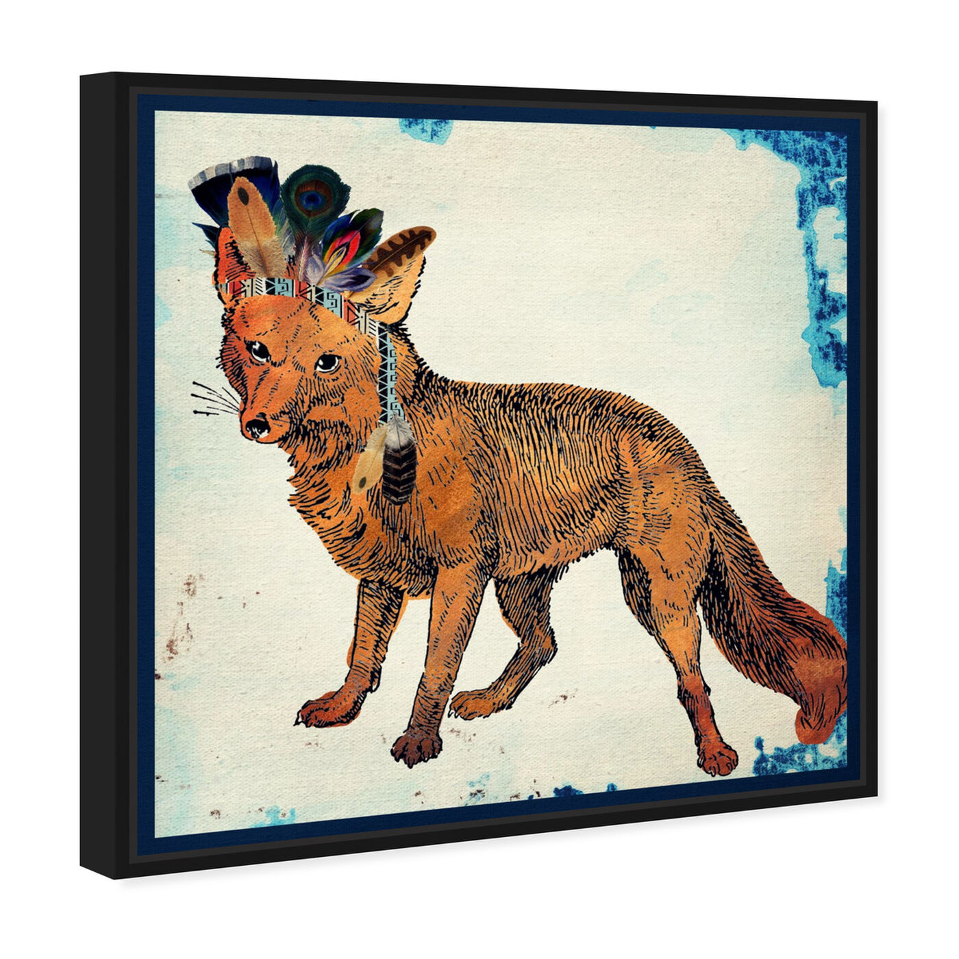 Angled view of Wild Fox featuring animals and zoo and wild animals art.