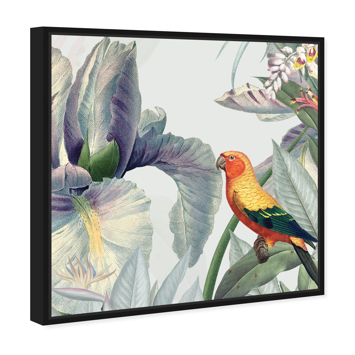 Angled view of Natura featuring animals and birds art.