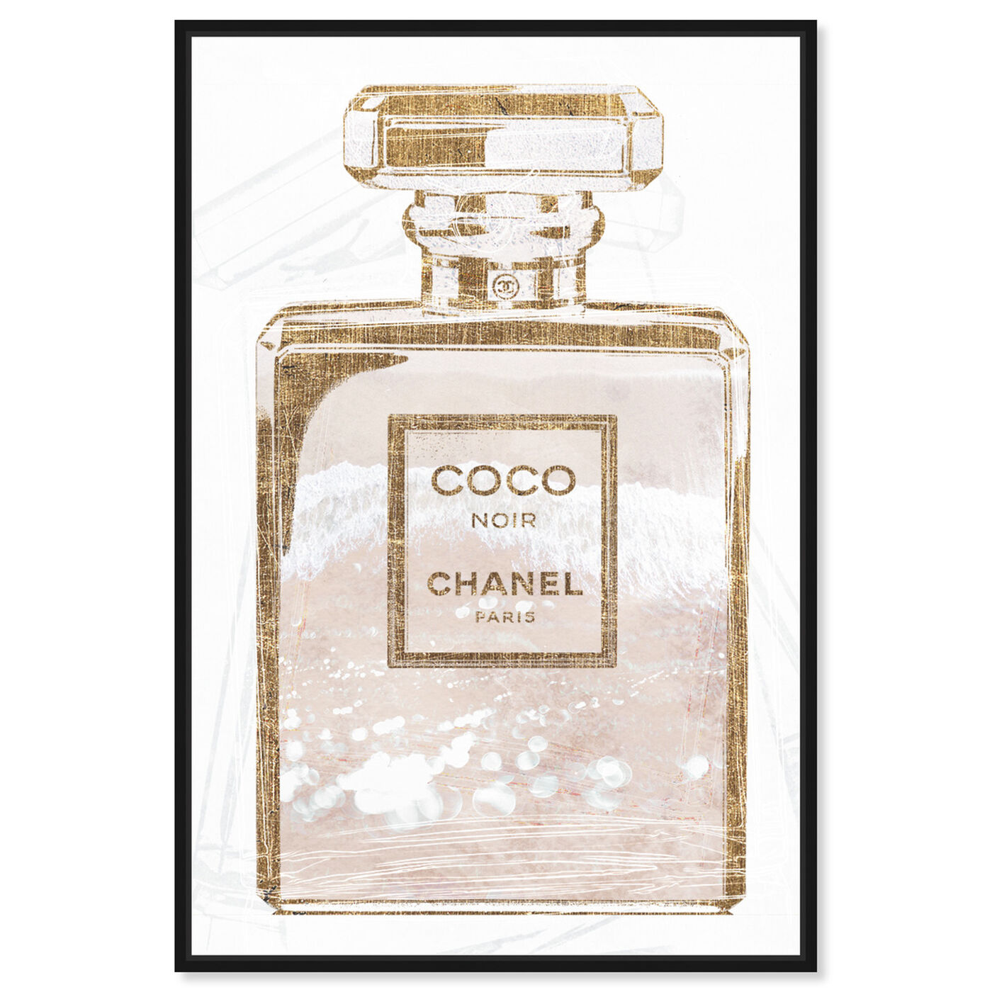 Front view of Coco Water Love Shell featuring fashion and glam and perfumes art.