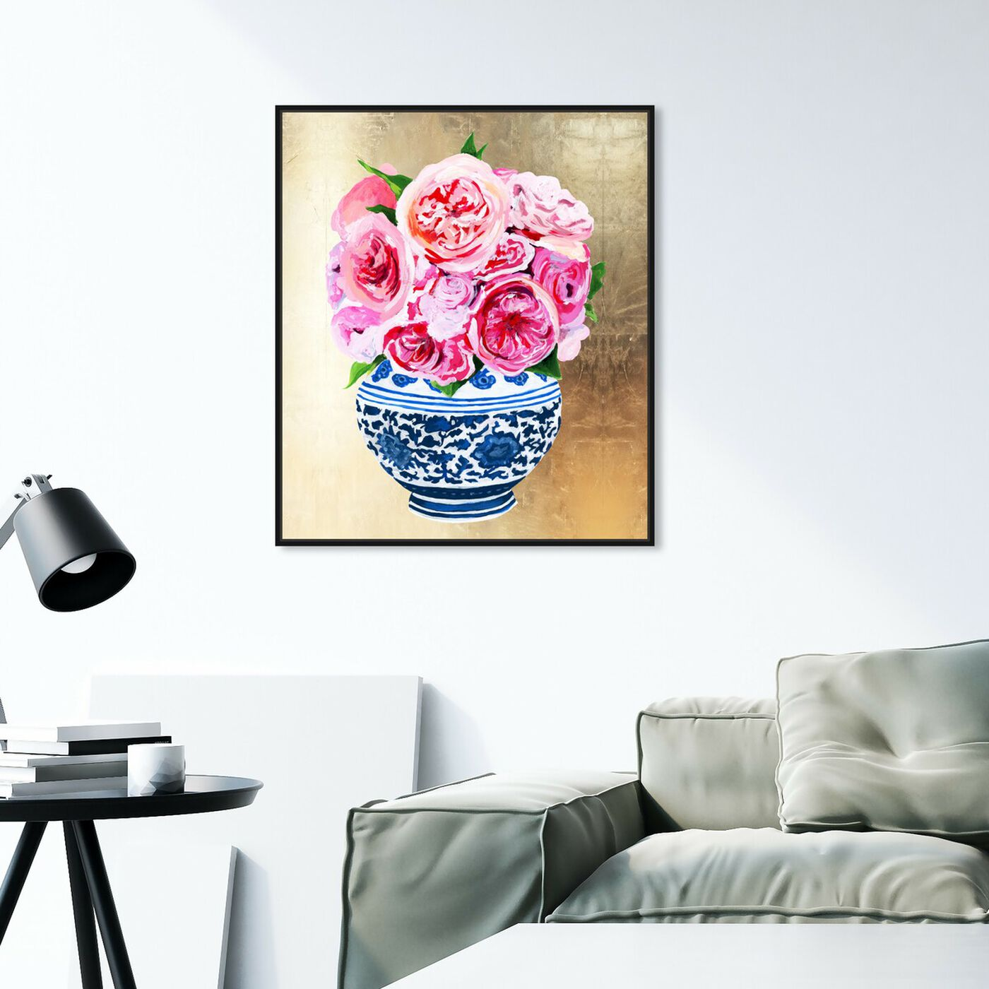 Hanging view of Peonie Vase II featuring world and countries and asian cultures art.