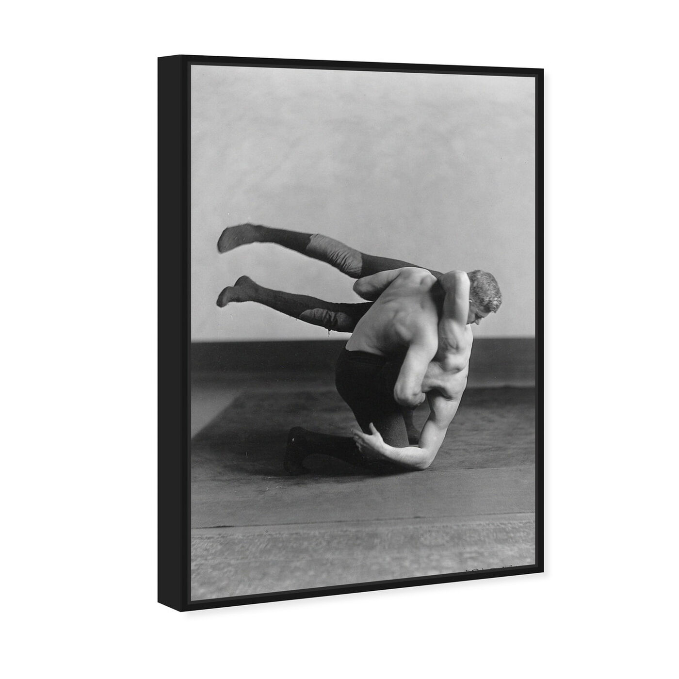 Angled view of McGill Wrestling - The Art Cabinet featuring sports and teams and boxing art.