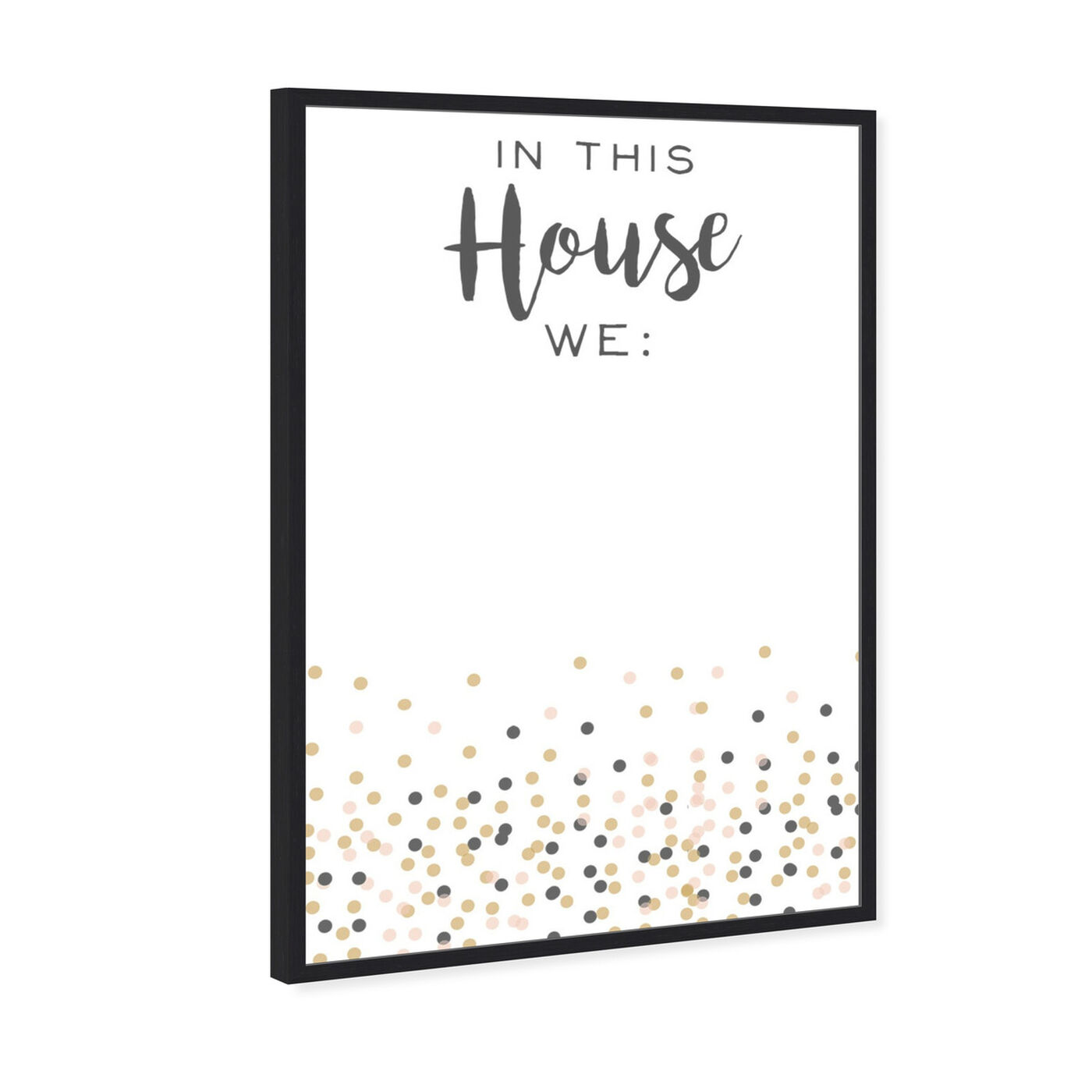 Angled view of In This House featuring typography and quotes and family quotes and sayings art.
