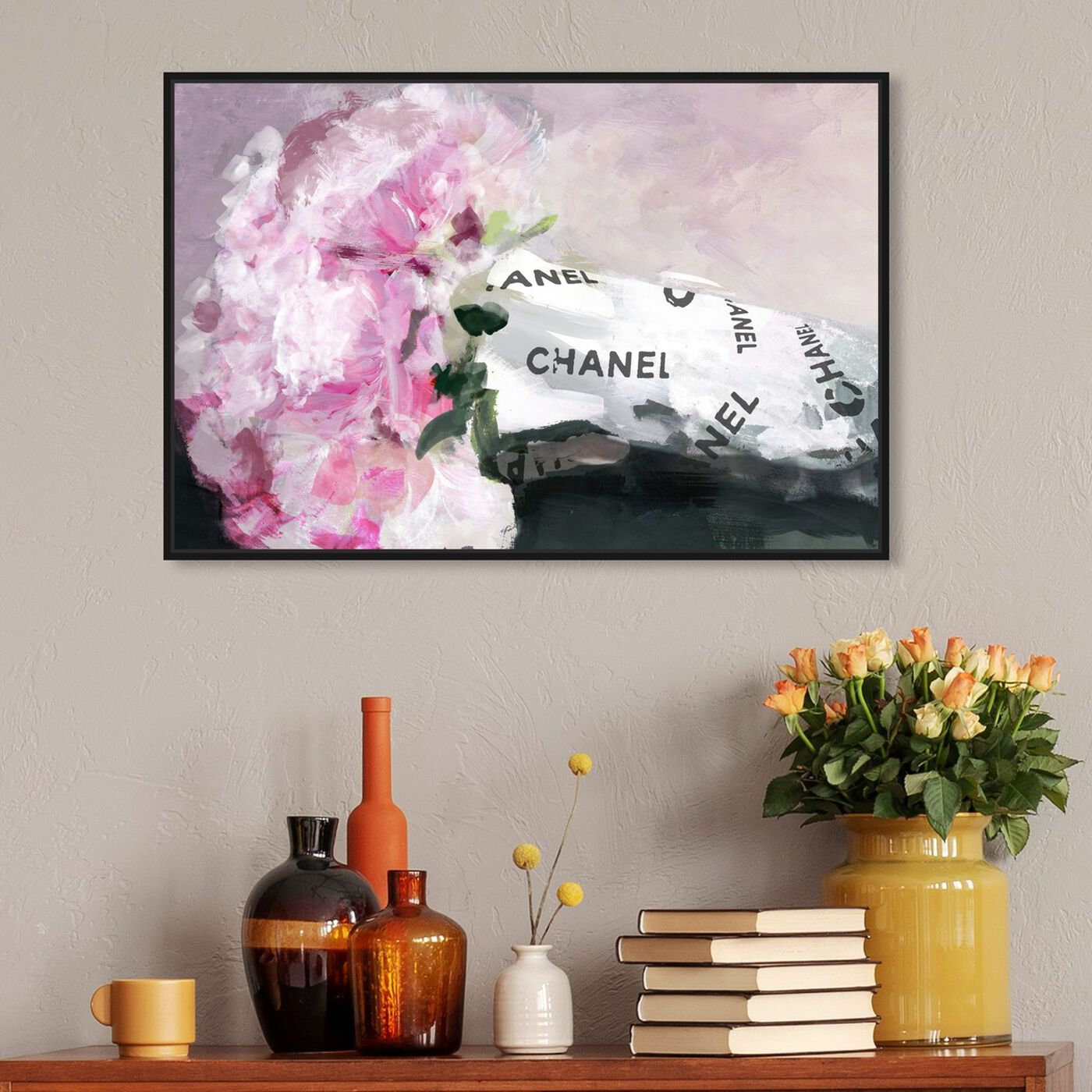 Hanging view of Peonies of Mine featuring fashion and glam and lifestyle art.