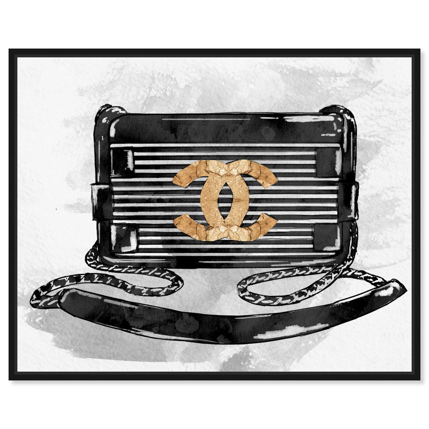 Front view of Gotta Have You Gold featuring fashion and glam and handbags art.