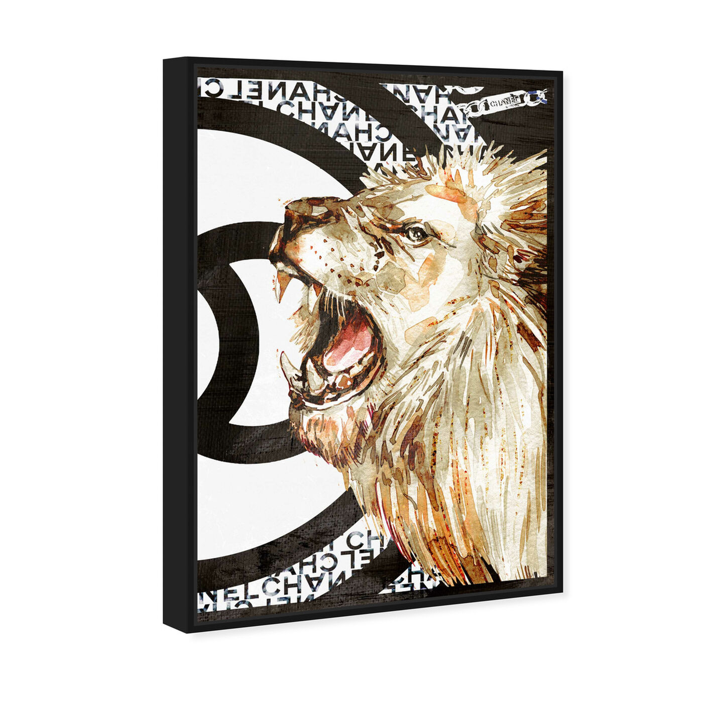 Angled view of Lion Effect Symbol II featuring fashion and glam and lifestyle art.