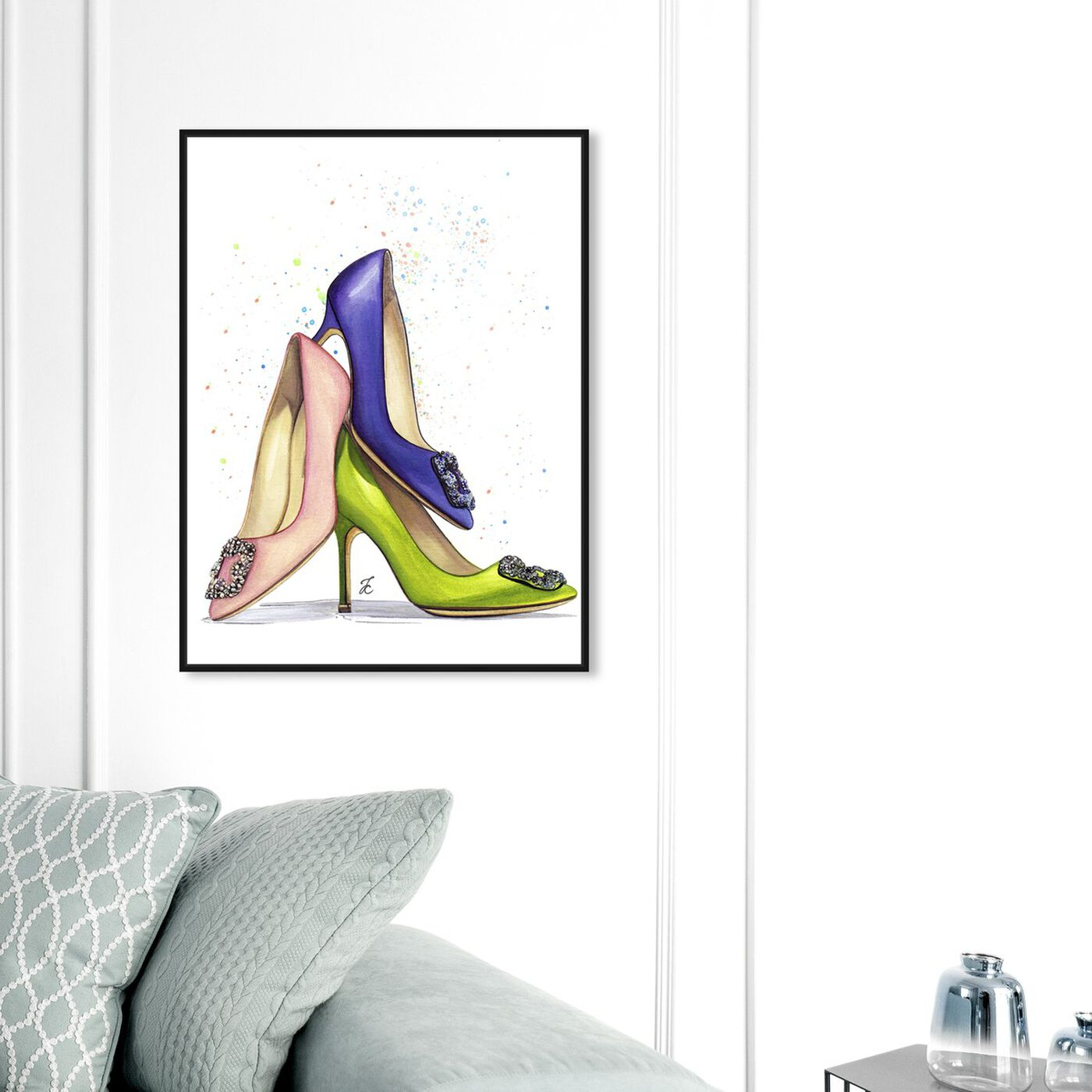 Hanging view of Doll Memories - Shoe Lover featuring fashion and glam and shoes art.