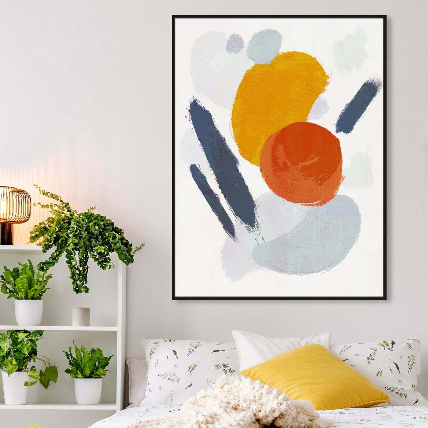 Hanging view of Blanc Order featuring abstract and paint art.