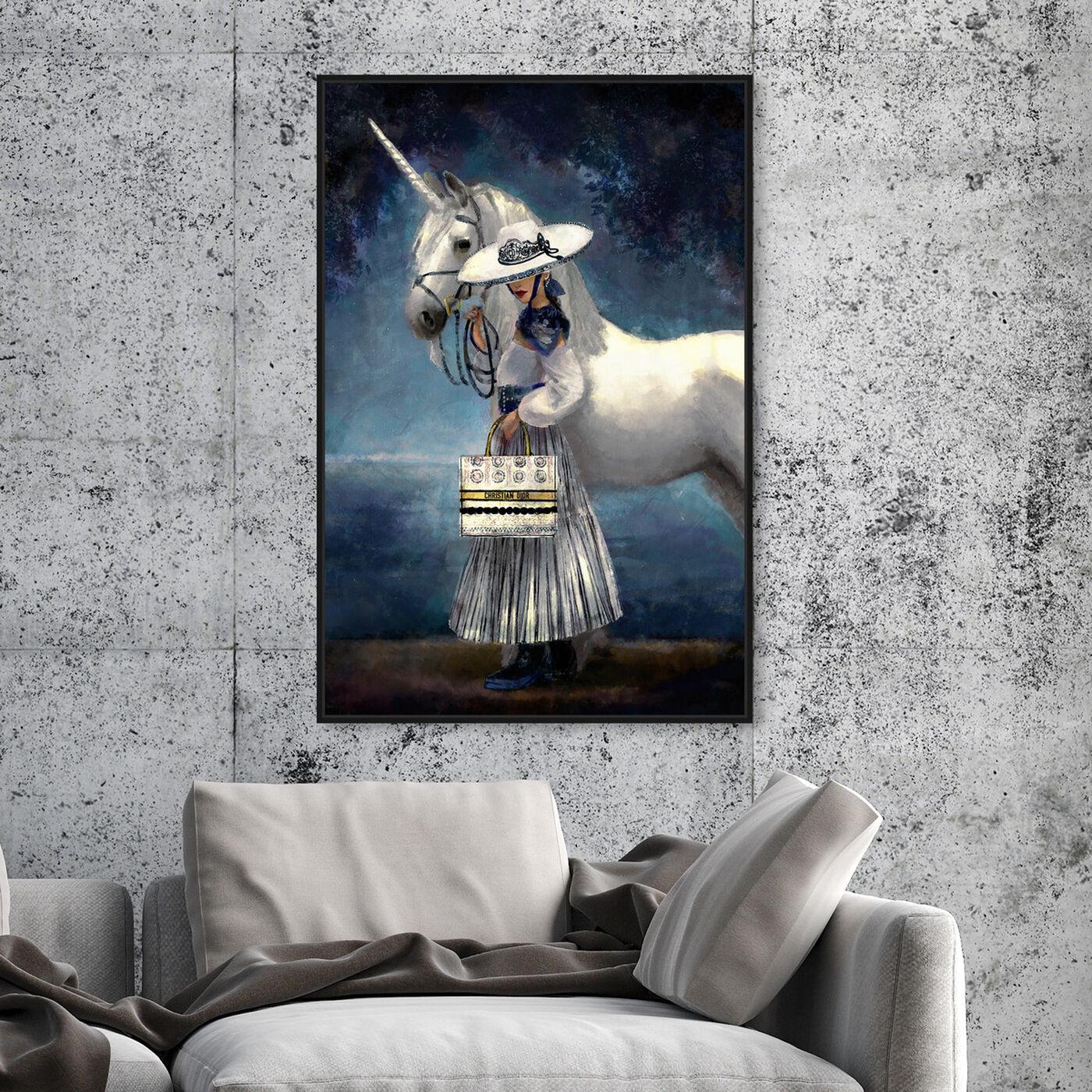 Hanging view of Midsummer Night Fantasy featuring fantasy and sci-fi and fantasy creatures art.