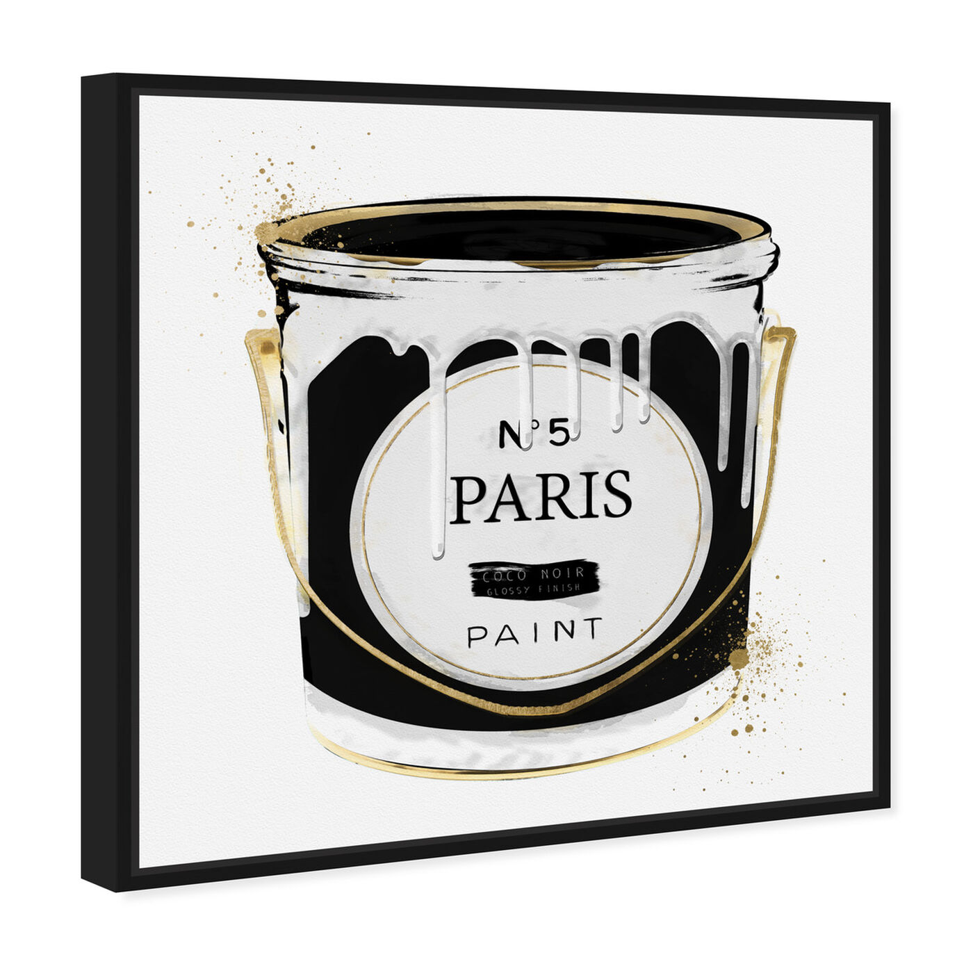 Angled view of Paris Fashion Paint featuring fashion and glam and cans art.