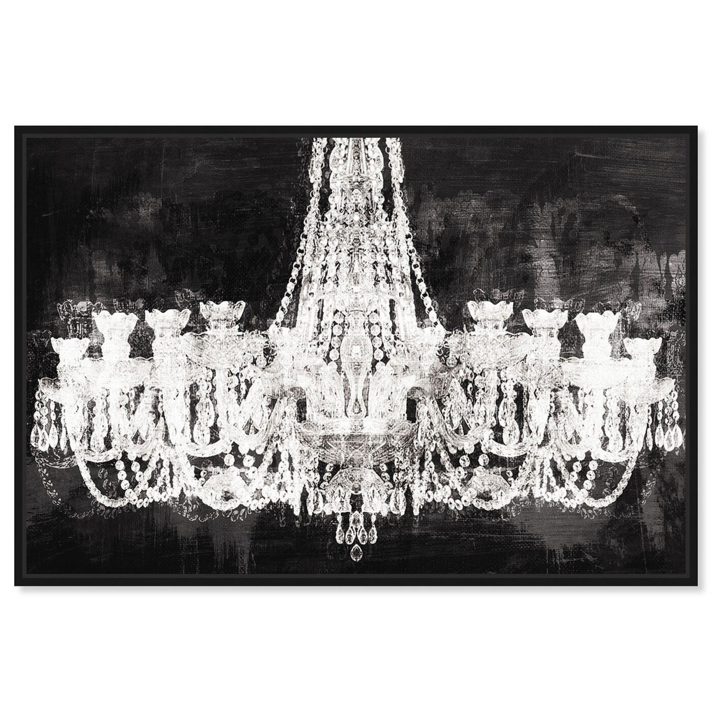 Front view of Decadent Soiree featuring fashion and glam and chandeliers art.