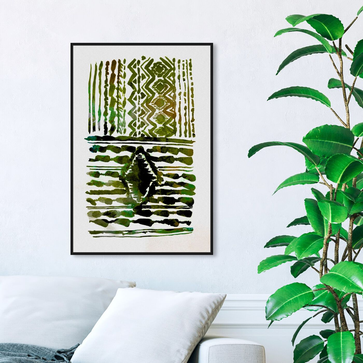 Hanging view of Sprout Plains featuring abstract and patterns art.