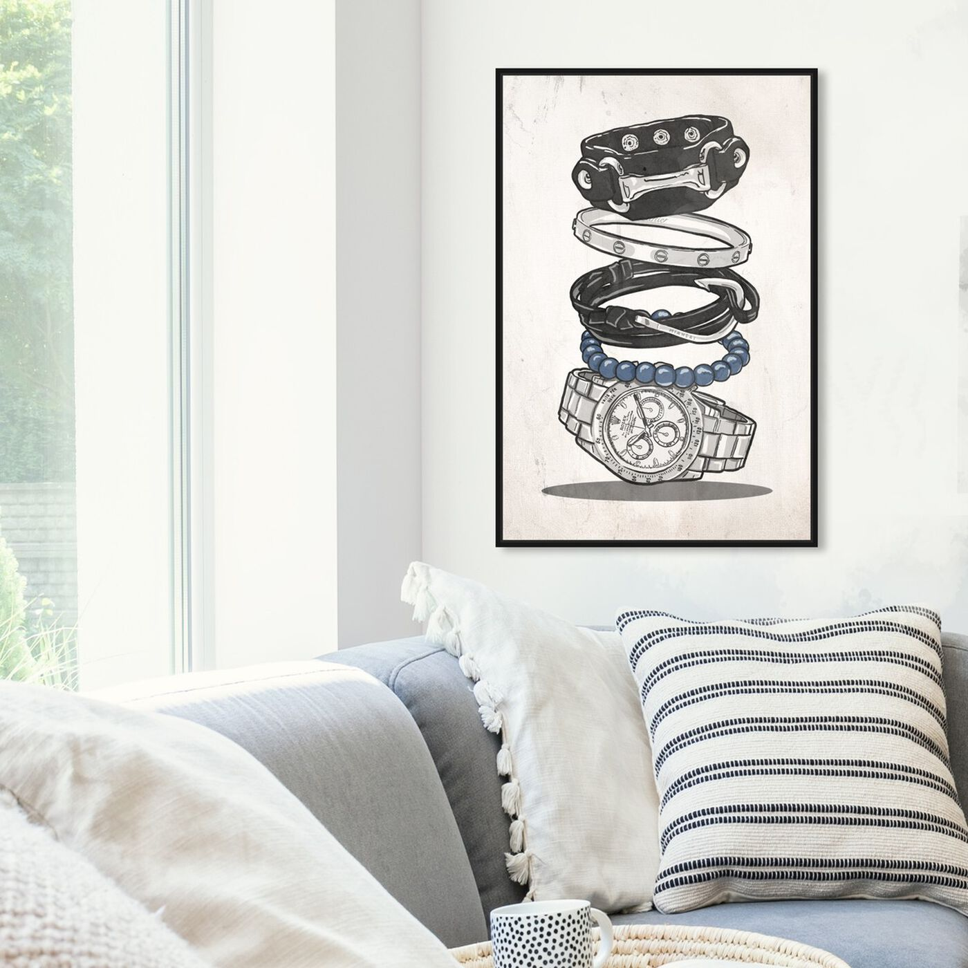 Hanging view of Gentleman Arm Candy featuring fashion and glam and accessories art.