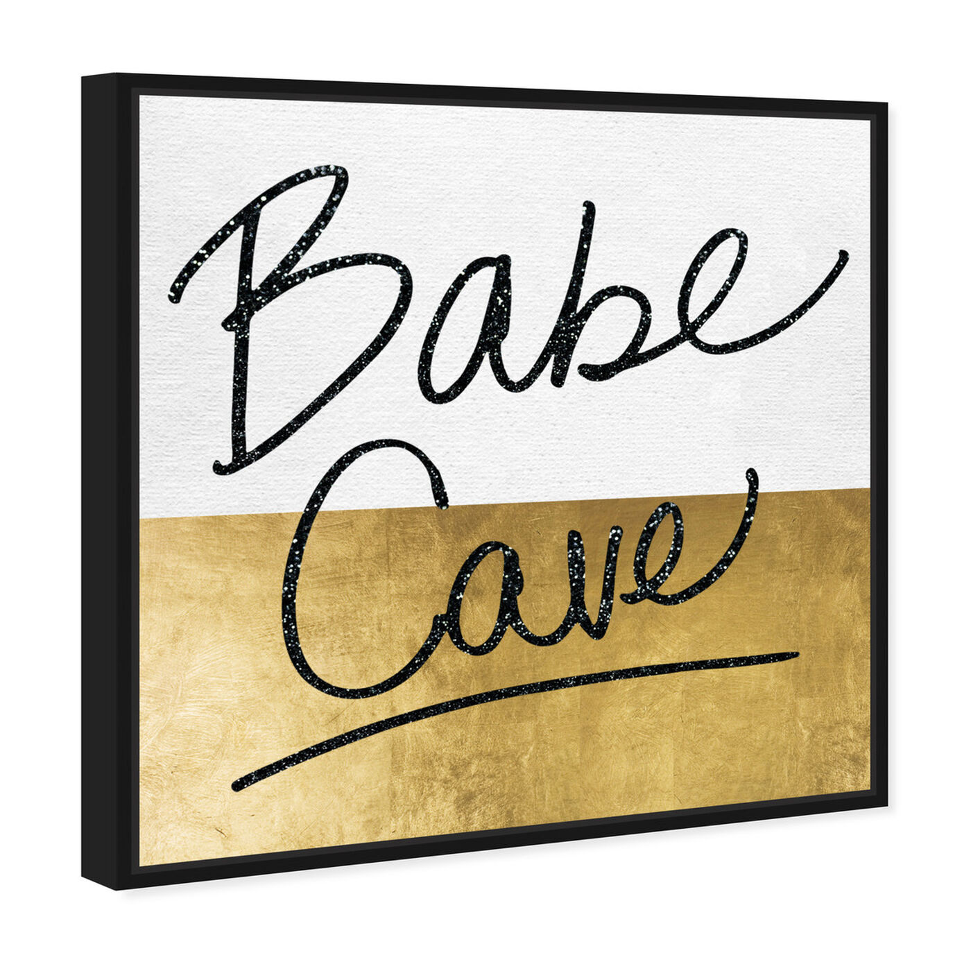 Angled view of Babe Cave featuring typography and quotes and empowered women quotes and sayings art.