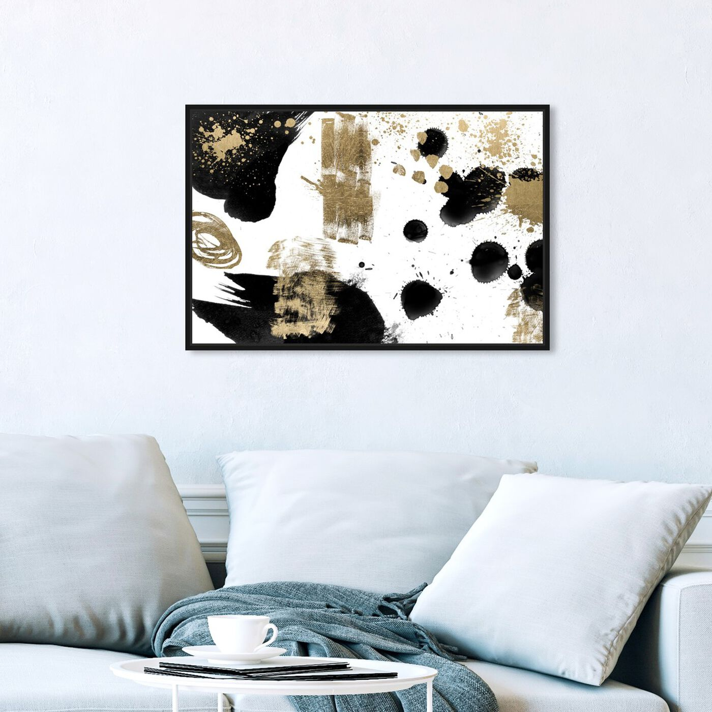 Hanging view of A Beautiful Mess I featuring abstract and paint art.