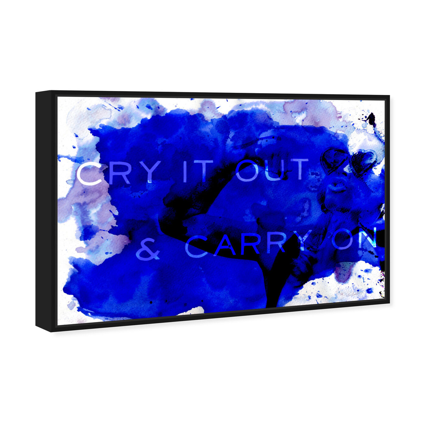 Angled view of Carry On featuring typography and quotes and quotes and sayings art.