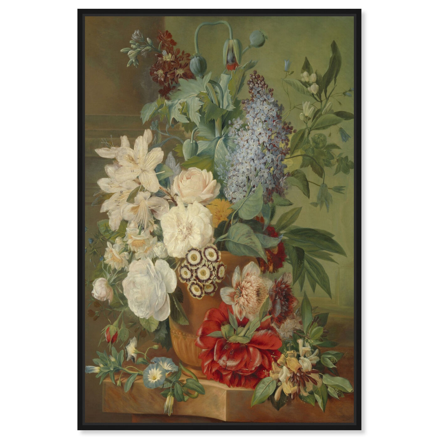 Front view of Flower Arrangement VIII - The Art Cabinet featuring classic and figurative and french décor art.