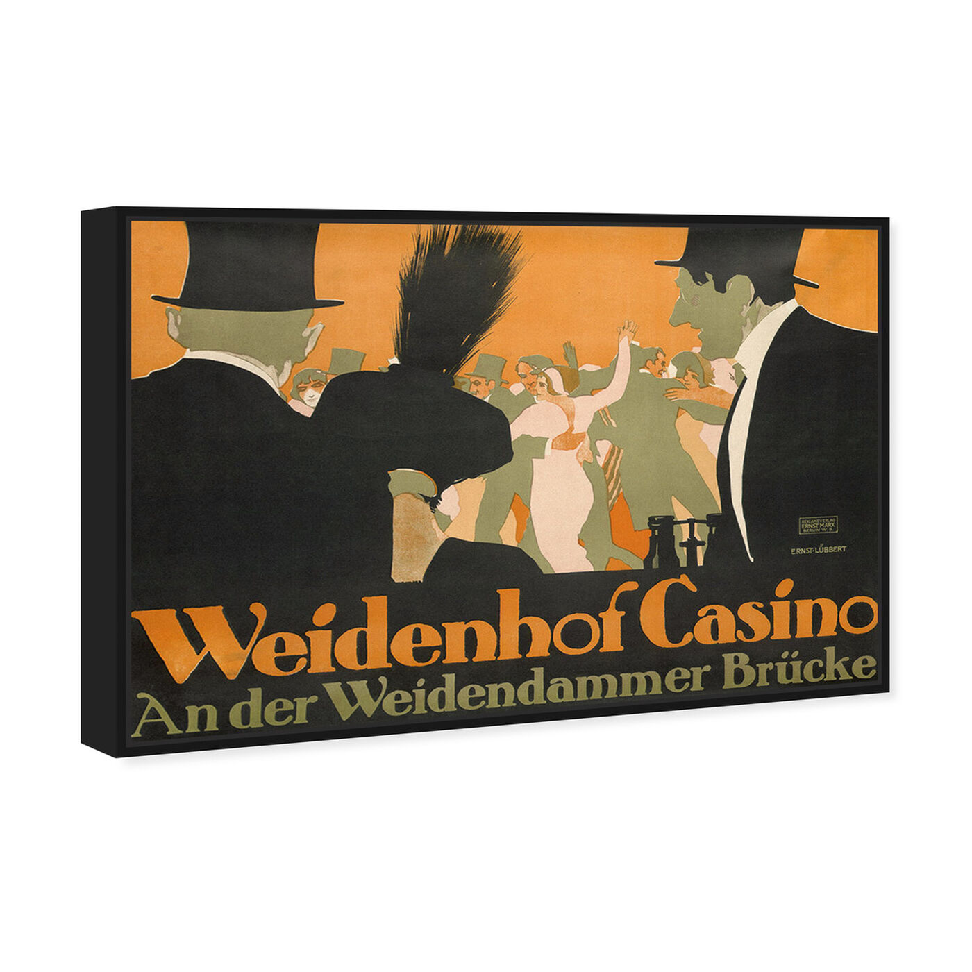 Angled view of Weidenhof Casino featuring advertising and posters art.