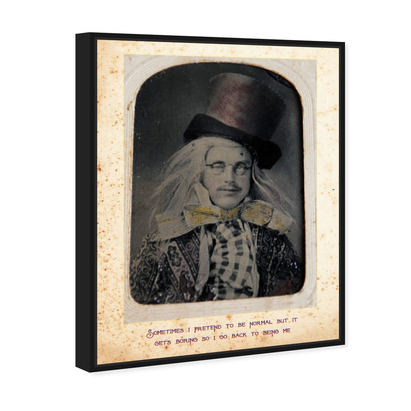 Angled view of Mad Hatter featuring people and portraits and fictional characters art.