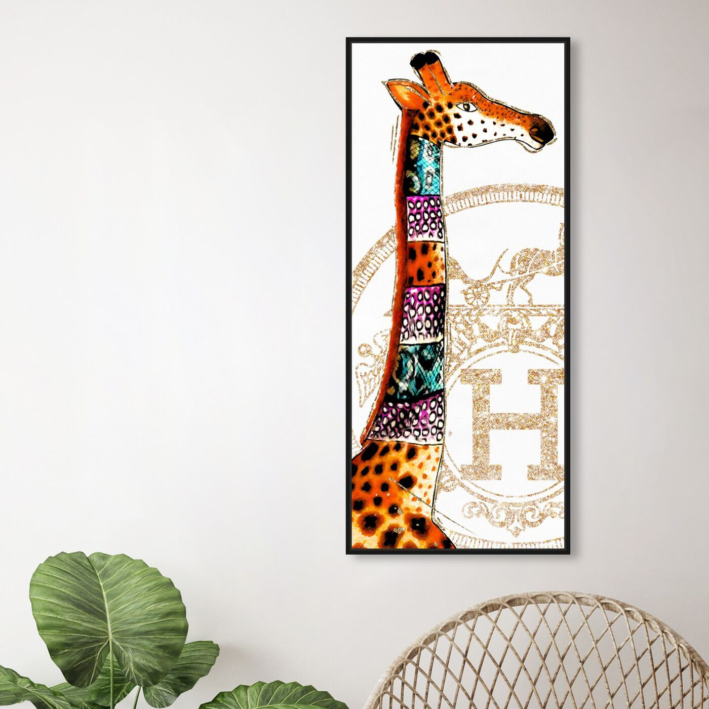 Hanging view of Giraffe Stand featuring fashion and glam and lifestyle art.