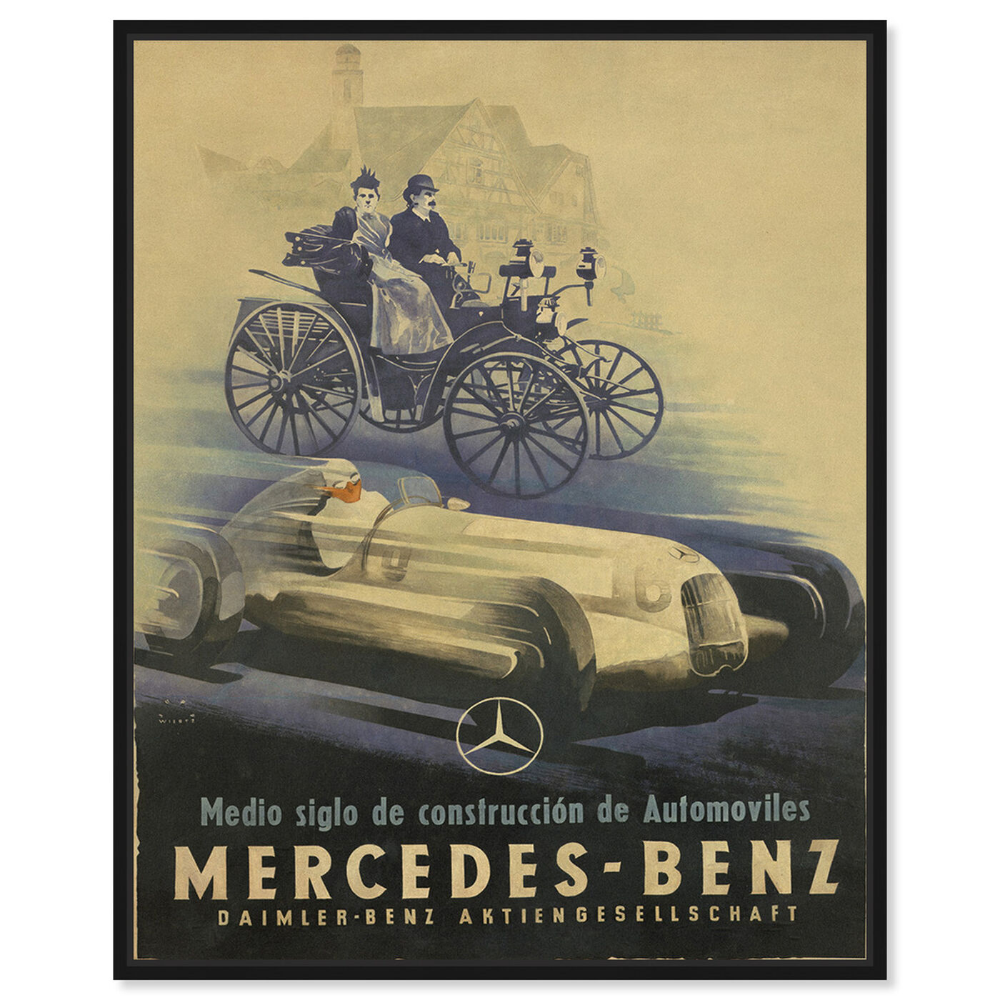 Front view of Mercedes Deco featuring advertising and promotional brands art.