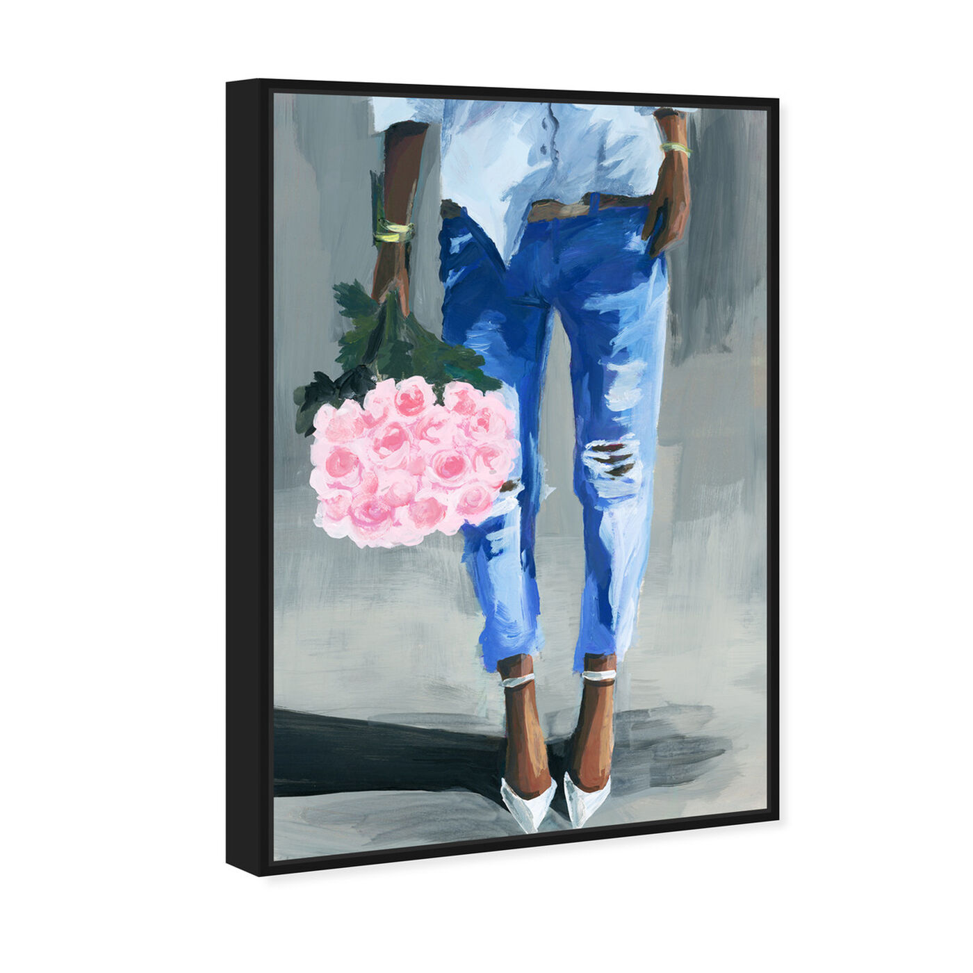 Angled view of Me and My Bouquet featuring fashion and glam and outfits art.