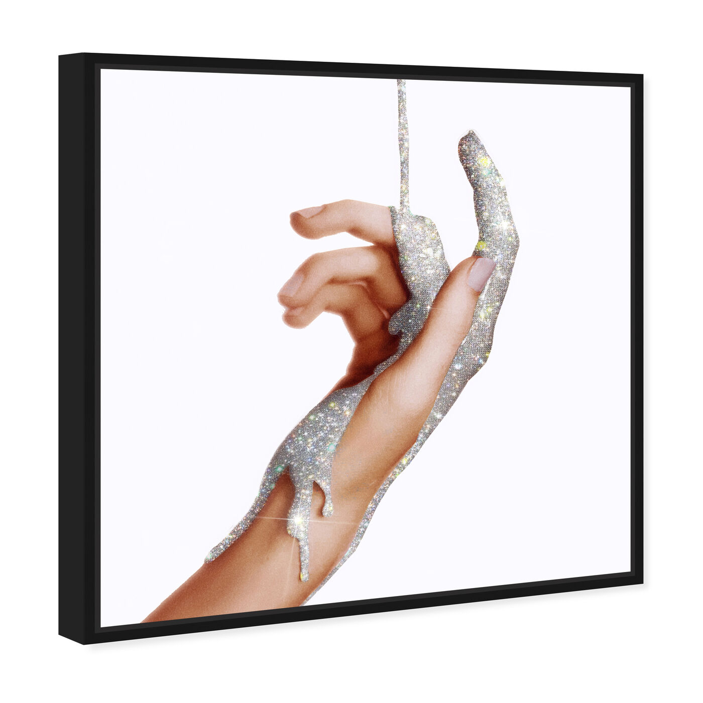 Angled view of Hands and Rhinestones II featuring fashion and glam and jewelry art.