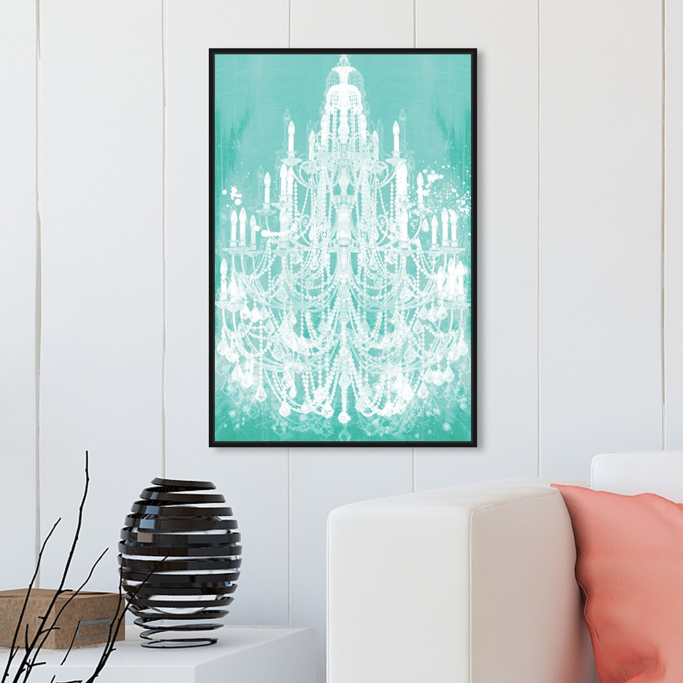 Hanging view of Privee Diamonds Mint featuring fashion and glam and chandeliers art.