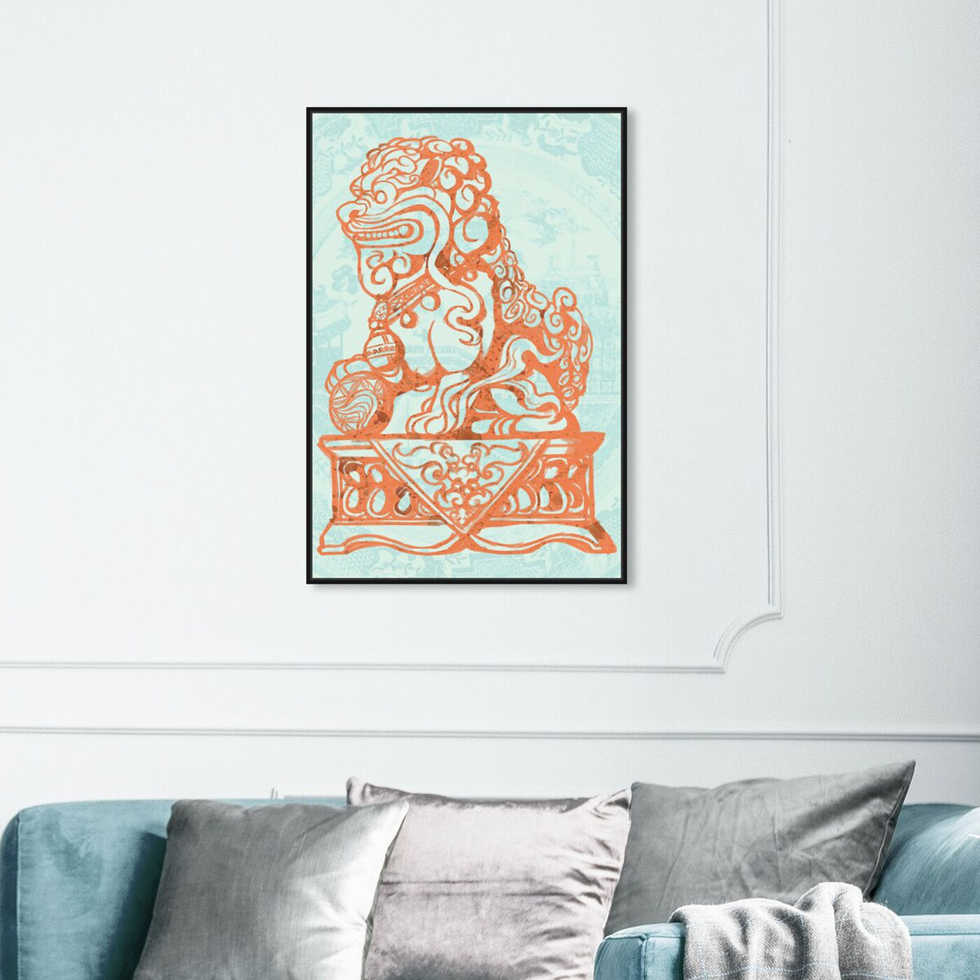 Hanging view of Foo Dog Lagoon featuring world and countries and asian cultures art.