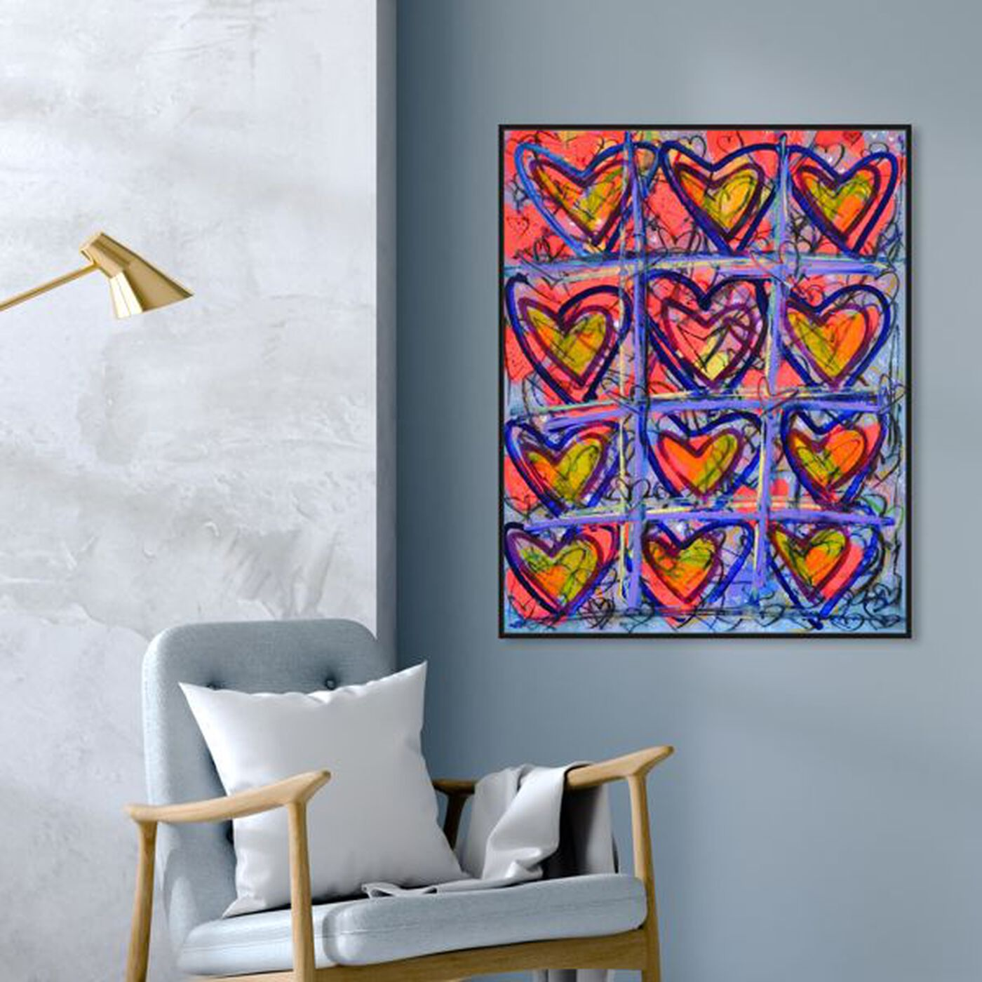 Hanging view of Doze by Tiago Magro featuring fashion and glam and hearts art.