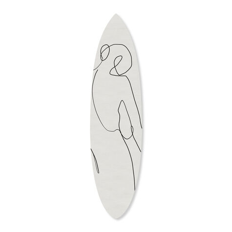 Reverse Surfboard Flat