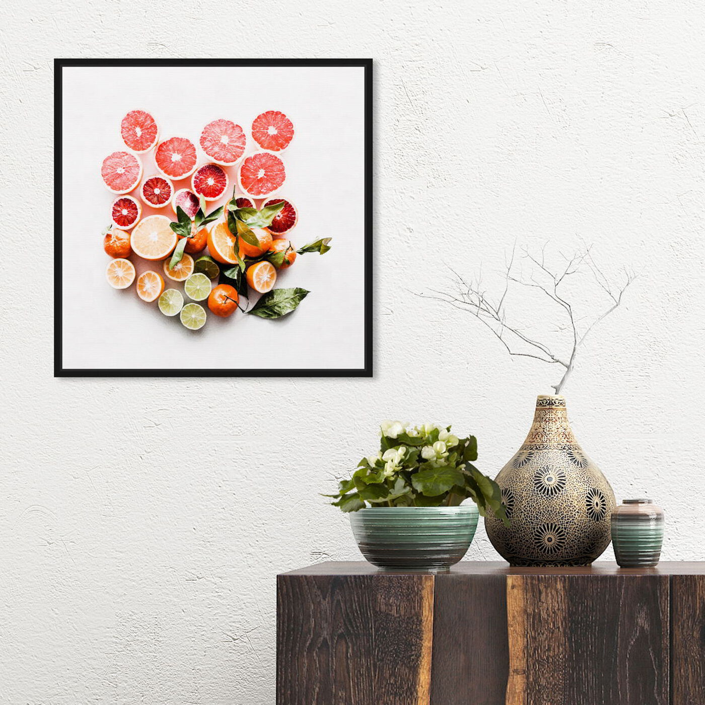 Hanging view of Citrus Love featuring food and cuisine and fruits art.