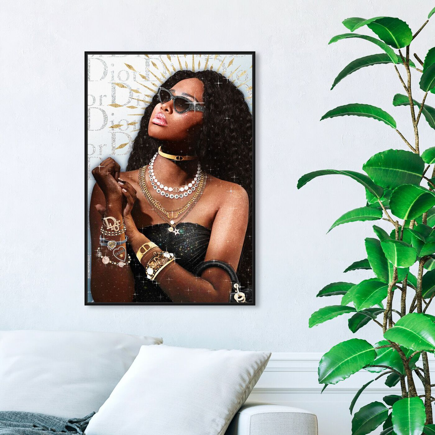 Hanging view of Getting Some Sun featuring fashion and glam and jewelry art.