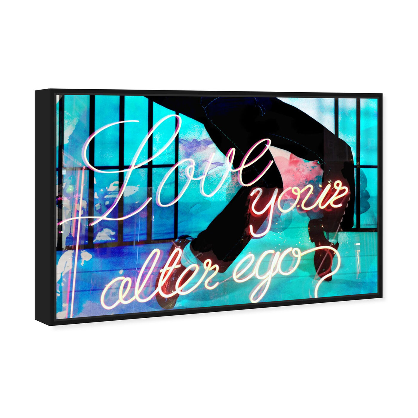 Angled view of Love Your Alter Ego featuring typography and quotes and love quotes and sayings art.