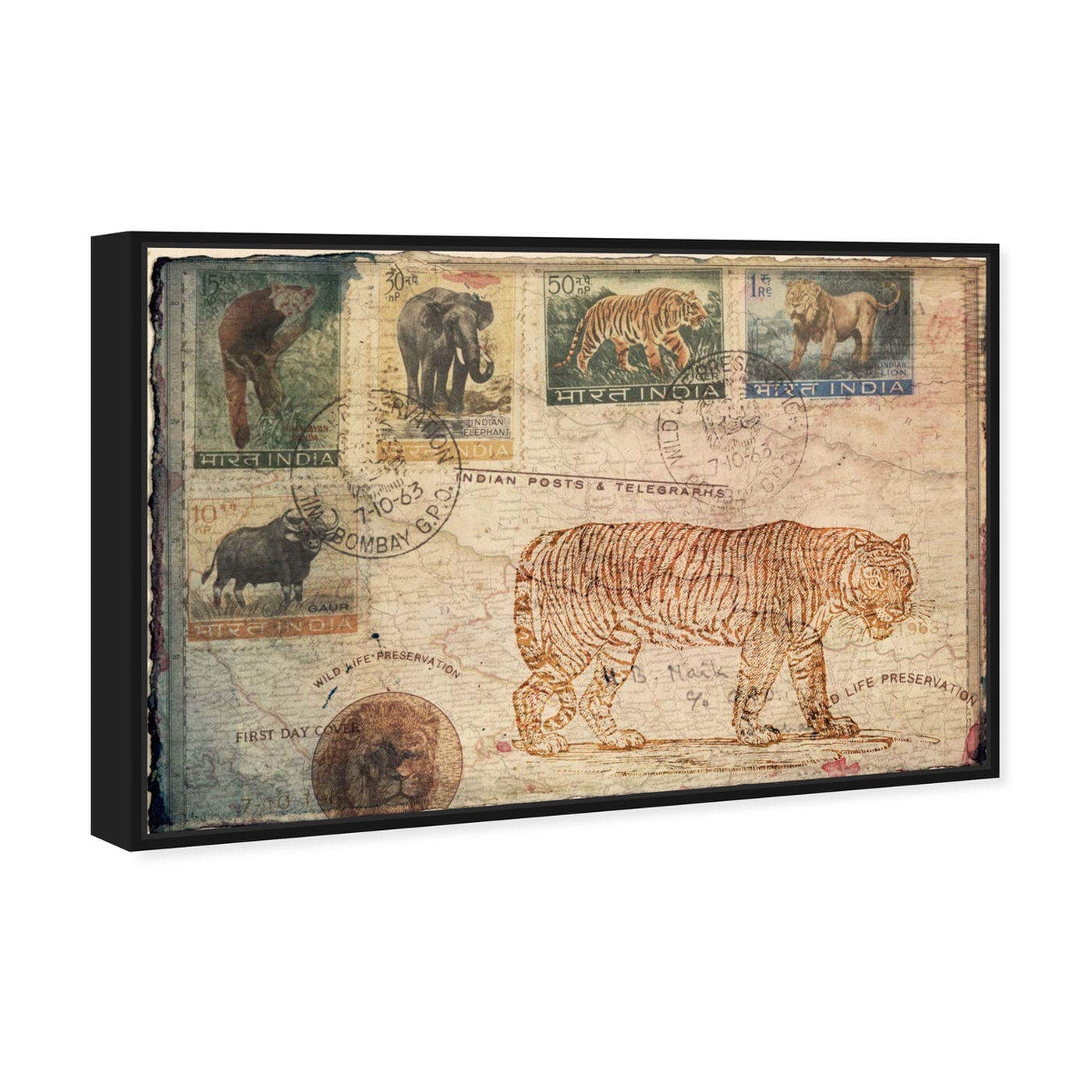 Angled view of Wild Life Preservation featuring animals and felines art.