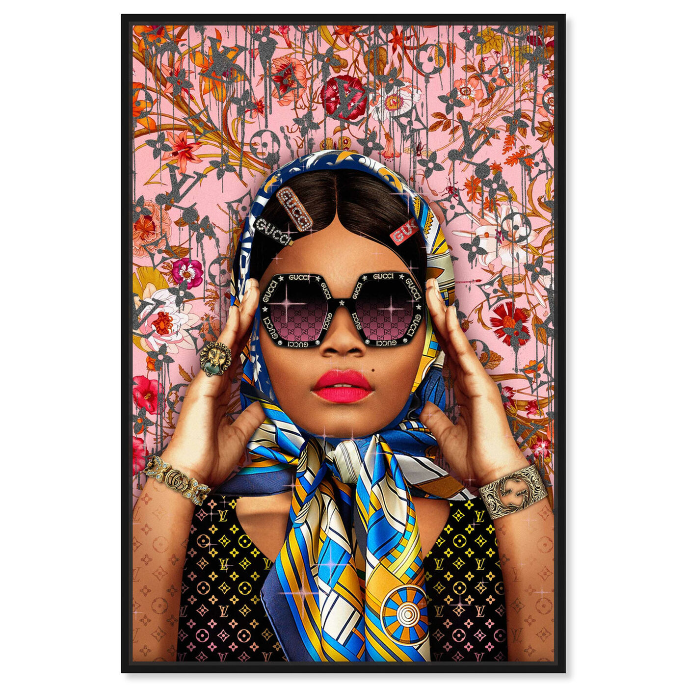Front view of Snap a picture featuring fashion and glam and portraits art.