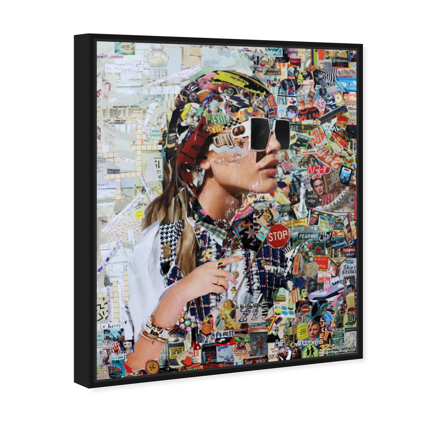 Angled view of Katy Hirschfeld - Midtown Shades featuring fashion and glam and portraits art.
