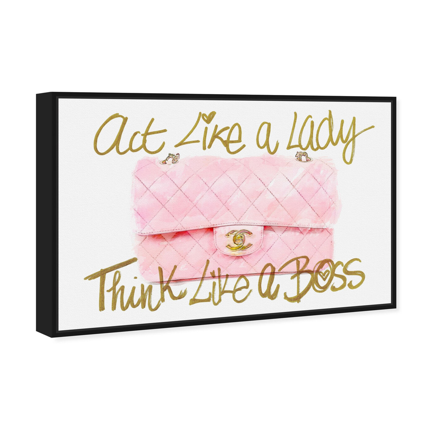 Angled view of Like A Lady Boss featuring typography and quotes and empowered women quotes and sayings art.