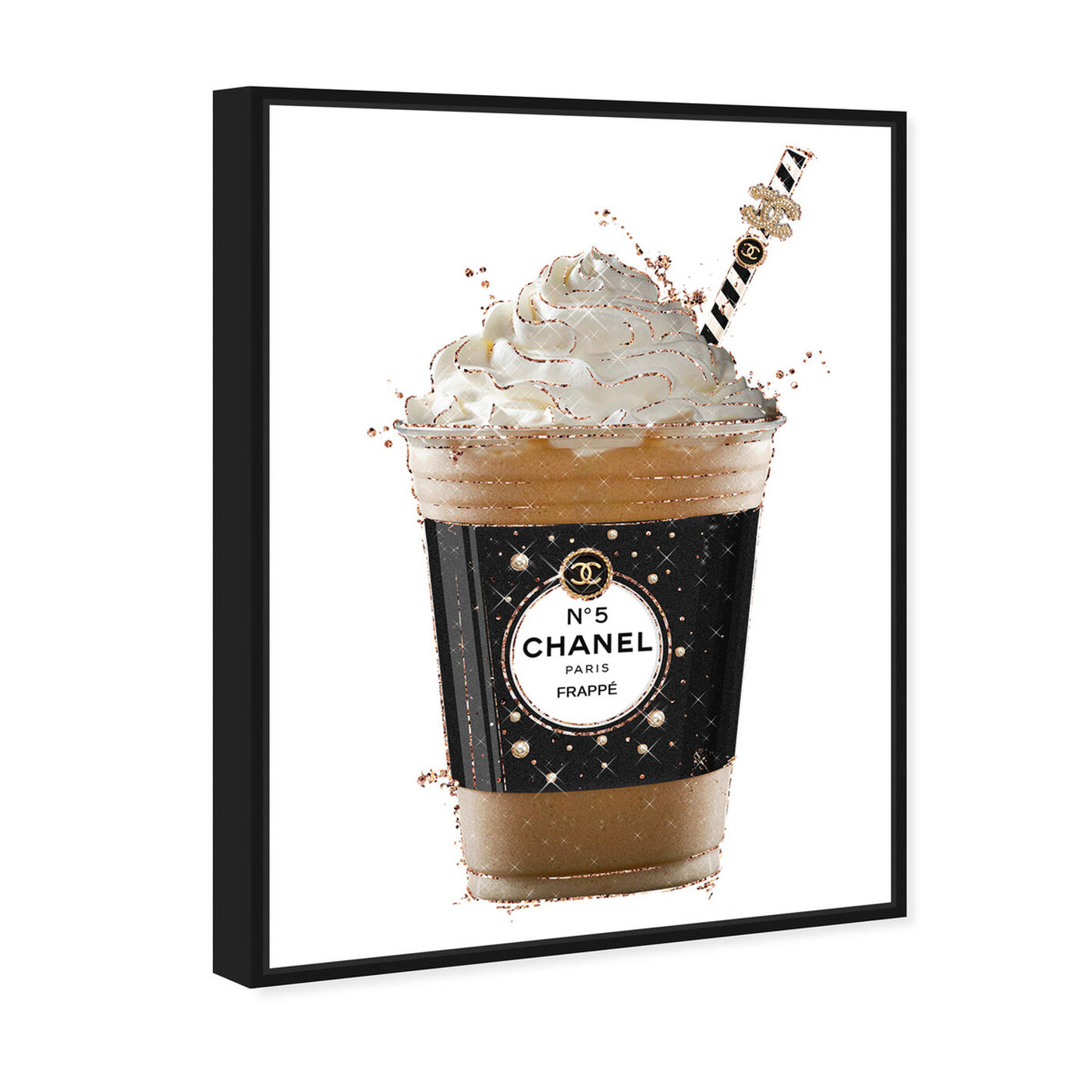 Angled view of Pearly Coffee Drink featuring fashion and glam and lifestyle art.
