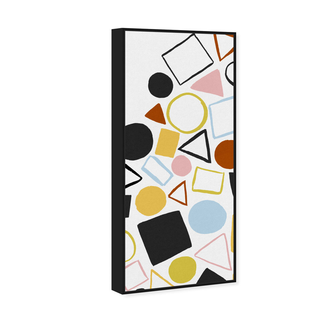 Angled view of Geometric Game Colorful featuring abstract and geometric art.