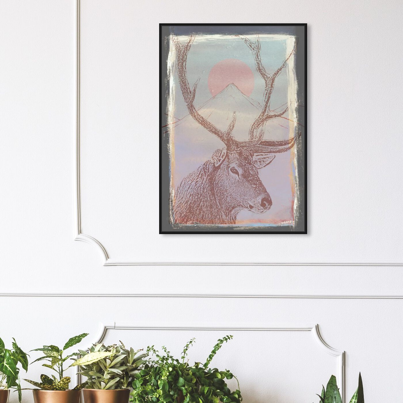 Hanging view of Forest Majesty featuring animals and zoo and wild animals art.