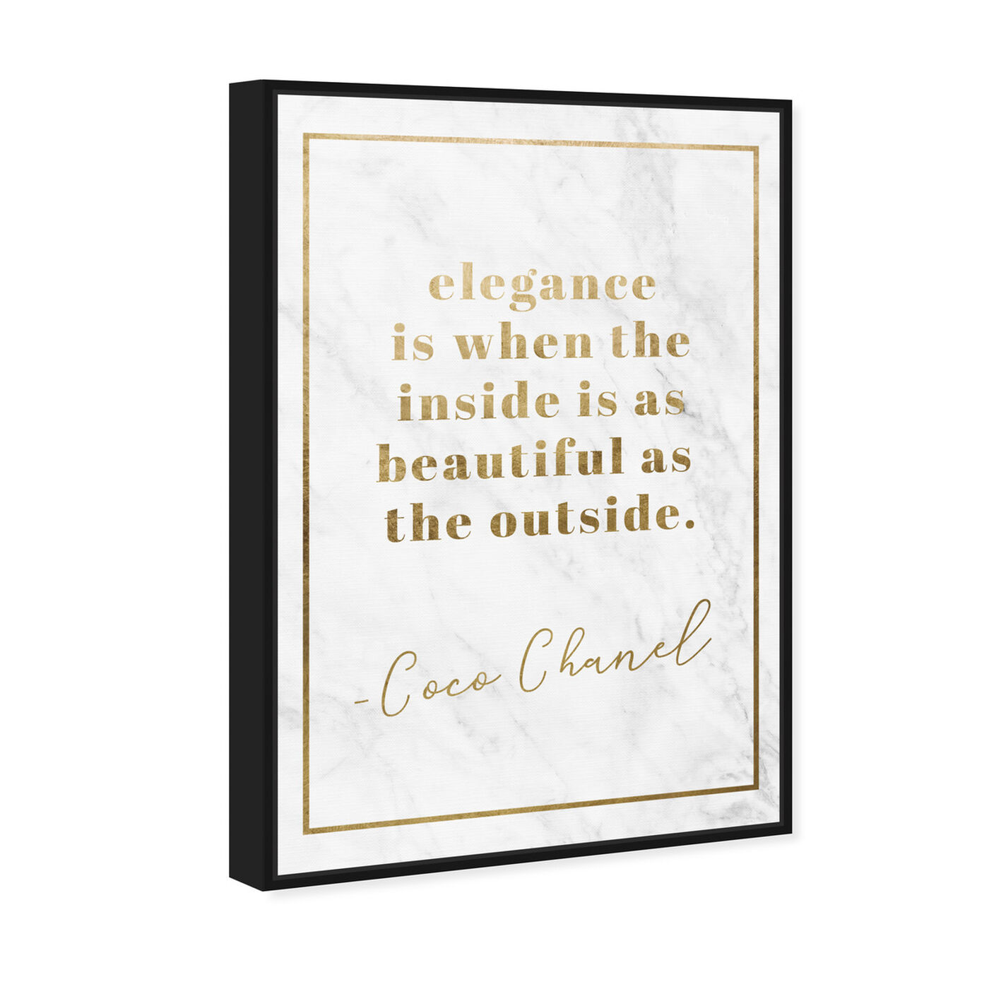 Angled view of Elegance is Beautiful Gold featuring fashion and glam and lifestyle art.