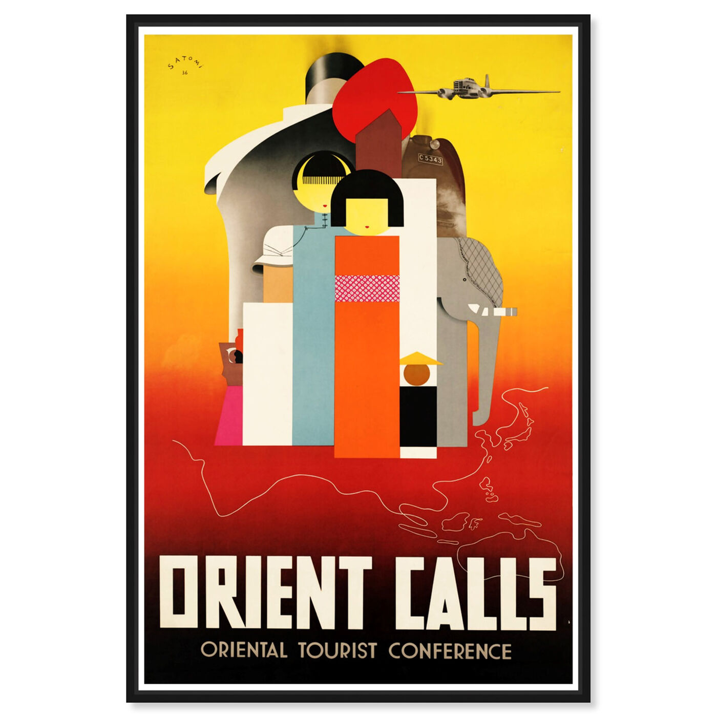 Front view of Orient Calls featuring advertising and posters art.