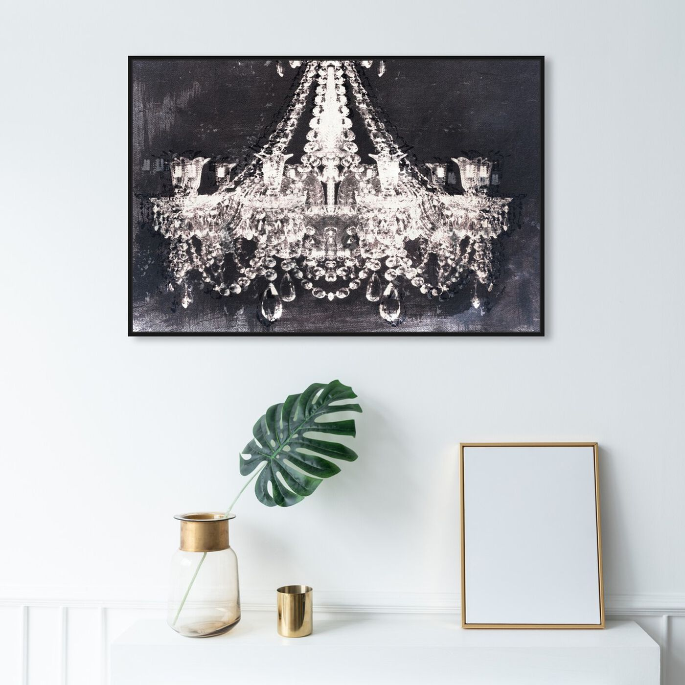 Hanging view of Dramatic Entrance Night featuring fashion and glam and chandeliers art.