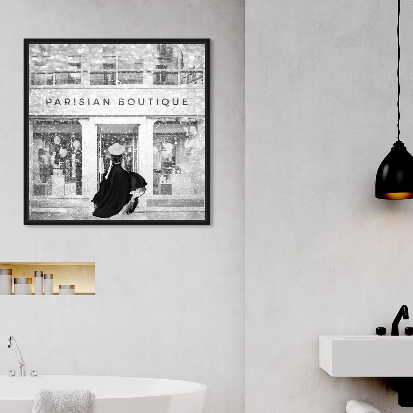 Hanging view of Glam Parisian Boutique featuring fashion and glam and lifestyle art.
